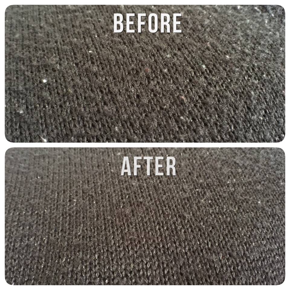 Image result for LINT REMOVE BEFORE & AFTER
